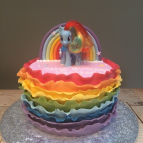 Rainbow My Little Pony Cake